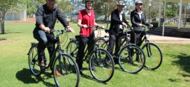 Council staff get on their bikes