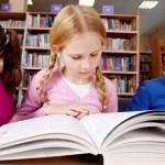 children in library slider