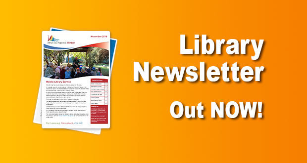 Library Newsletter Out Now – November 2016!