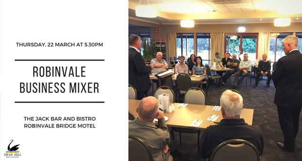 Mingle at the Robinvale Business Mixer