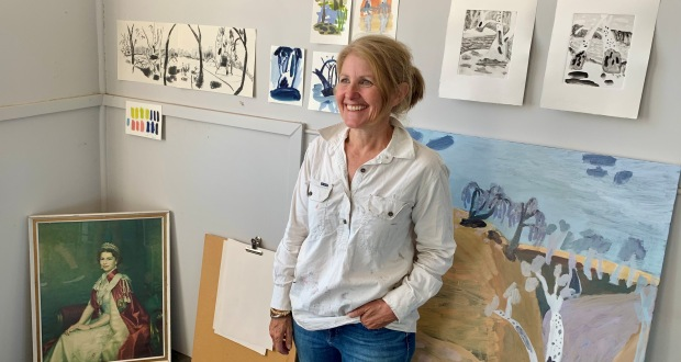 Rural hall becomes art studio for one week only